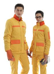 可脱里防静电工装呢黄色棉衣