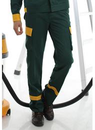 防静电工装呢绿色多袋裤