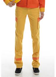防静电工装呢黄色多袋裤
