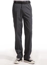涤棉斜纹铁灰裤子