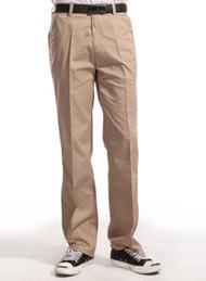 涤棉斜纹驼色裤子