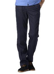 涤棉斜纹深蓝裤子