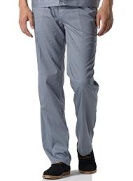中灰色涤棉细斜纹裤子