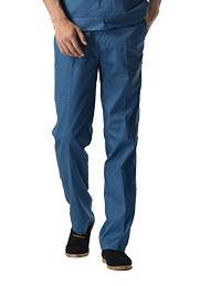 深青色涤棉细斜纹裤子