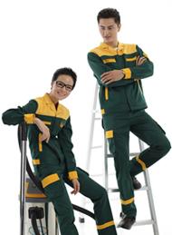 防静电工装呢绿色反光工作服